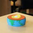 Capture d'écran 2018-03-05 à 12.10.05.png Download free STL file Multi-Color Earth Core Model • 3D print design, MosaicManufacturing