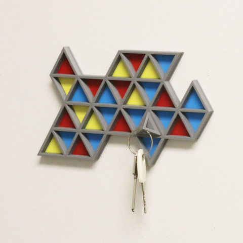 Free STL Multi-Color Key Rack, MosaicManufacturing