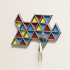 Download free STL file Multi-Color Key Rack, MosaicManufacturing