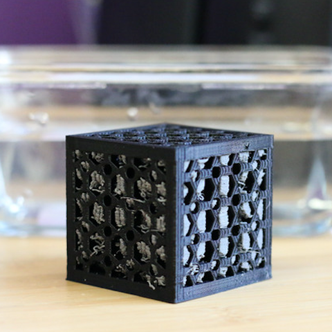 Free STL Multi-Color Ball in a Cube, MosaicManufacturing