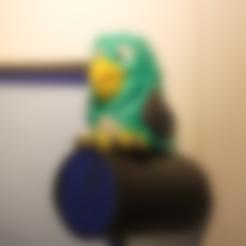 Free Multi-color Parrot Remix 3D printer file, MosaicManufacturing