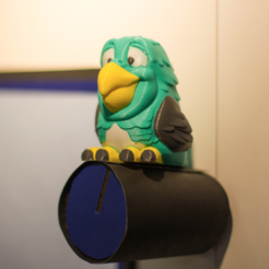 Free Multi-color Parrot Remix 3D printer file, MosaicManufacturing
