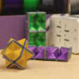 Free 3D printer files Multi-Color Fidget Star, MosaicManufacturing
