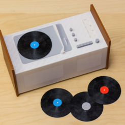 Free STL Multi-Color Record Player, MosaicManufacturing