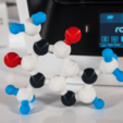 Free 3D printer designs Multi-Color Caffeine Molecule Model, MosaicManufacturing