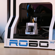 Free 3D printer files Multi-Color Robo R1 USB Holder, MosaicManufacturing