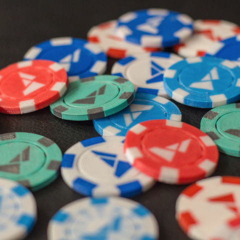 Free 3d printer designs Multi-color Poker Chips, MosaicManufacturing