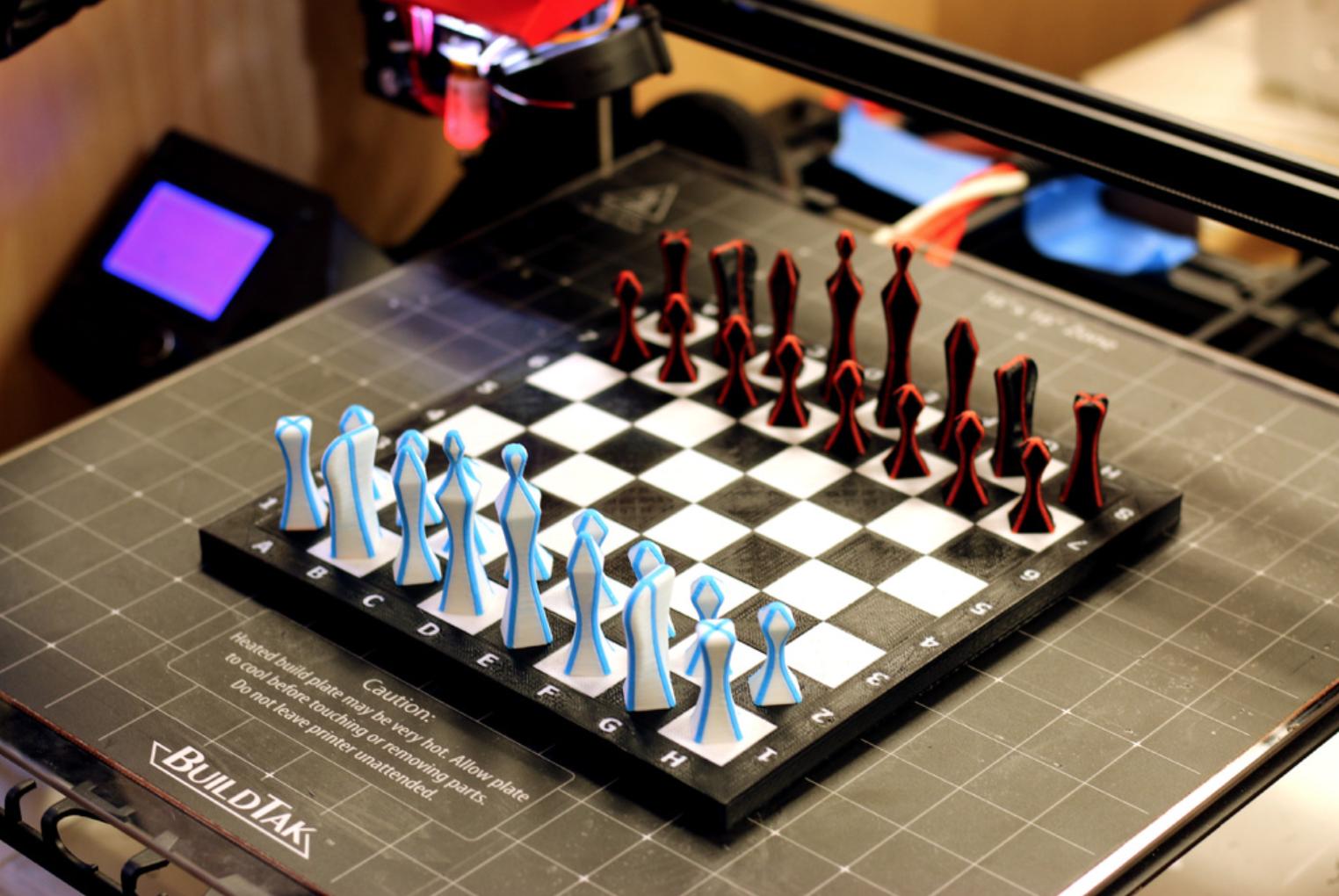 Capture d'écran 2017-10-03 à 14.33.50.png Télécharger fichier STL gratuit Ensemble d'échecs multicolores • Plan imprimable en 3D, MosaicManufacturing