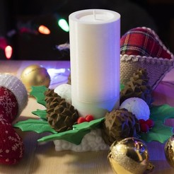 Download free 3D printing models Multi-Color Christmas Candle, MosaicManufacturing