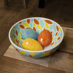 Download free 3D printer templates Multi-Color Fruit Bowl, MosaicManufacturing