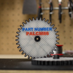 Free STL files Multi-body Carbon Fiber Reinforced Gear, MosaicManufacturing