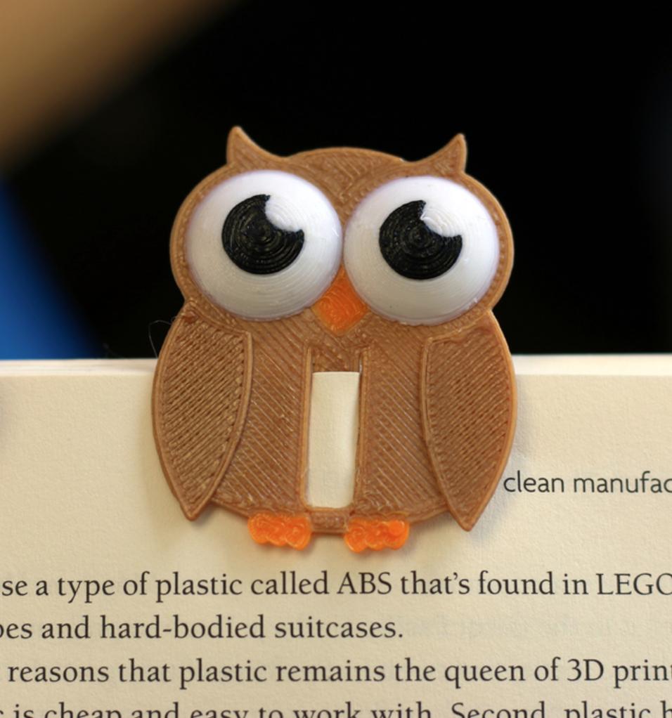 Capture d'écran 2017-08-16 à 19.01.56.png Download free STL file Multi-Color Owl Bookmark • 3D printer template, MosaicManufacturing
