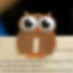 Download free STL files Multi-Color Owl Bookmark, MosaicManufacturing