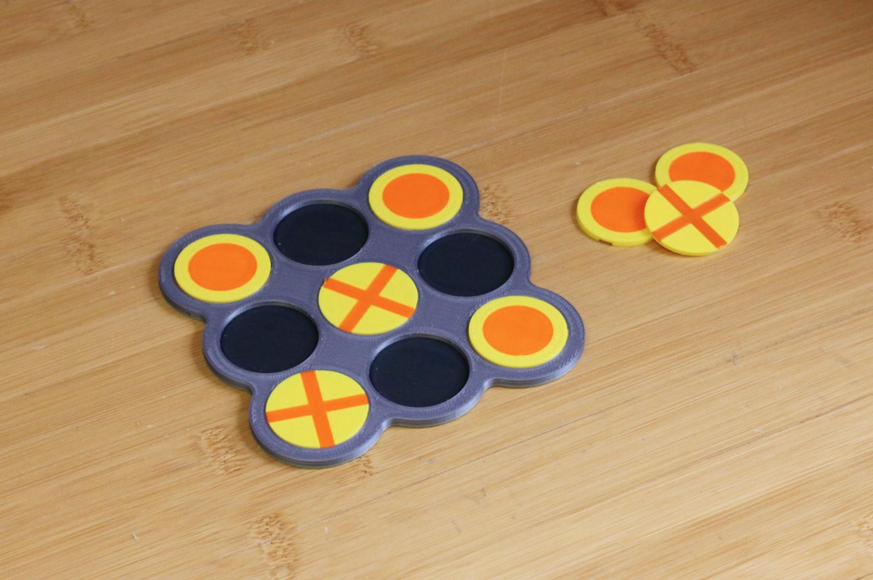 Multi-Color Tic-Tac-Toe.png Télécharger fichier STL gratuit Tic-Tac-Toe multicolore • Plan pour imprimante 3D, MosaicManufacturing