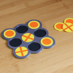 Download free STL file Multi-Color Tic-Tac-Toe • 3D print design, MosaicManufacturing
