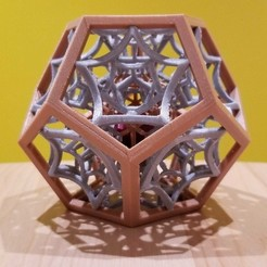 Free 3D printer designs Multi-Material Dodecahedron, MosaicManufacturing