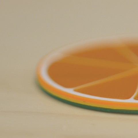 Citrus slices pic2.jpg Download free STL file Citrus Coasters • 3D printing model, MosaicManufacturing