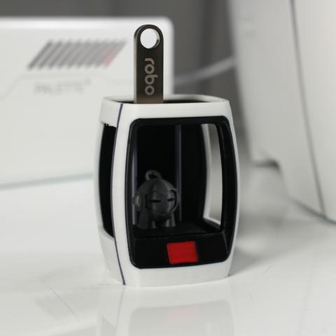 Capture d'écran 2017-11-21 à 10.39.56.png Download free STL file Multi-Color Robo R2 USB Holder • 3D printer model, MosaicManufacturing