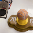 Free 3d printer model Multi-color Basketball Trophy, MosaicManufacturing
