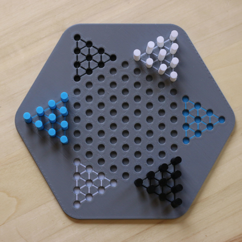 Capture d'écran 2017-10-25 à 12.34.28.png Download free STL file Multi-Color Chinese Checkers Set • 3D printer design, MosaicManufacturing