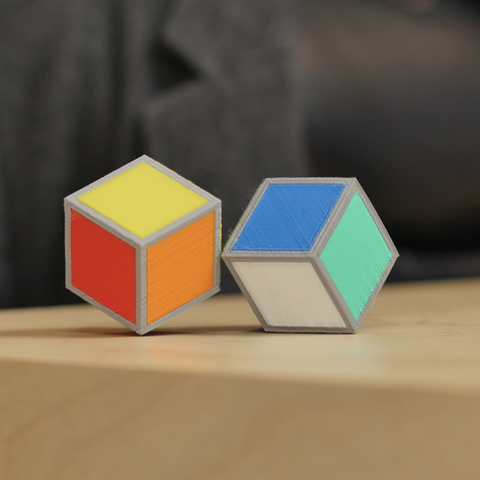 Download free 3D printing designs Cube Illusion (Rhombic Dodecahedron), MosaicManufacturing