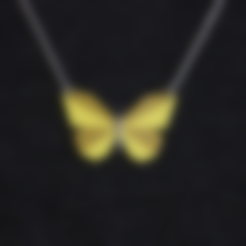 Télécharger STL gratuit Multi-Color Butterfly Necklace, MosaicManufacturing
