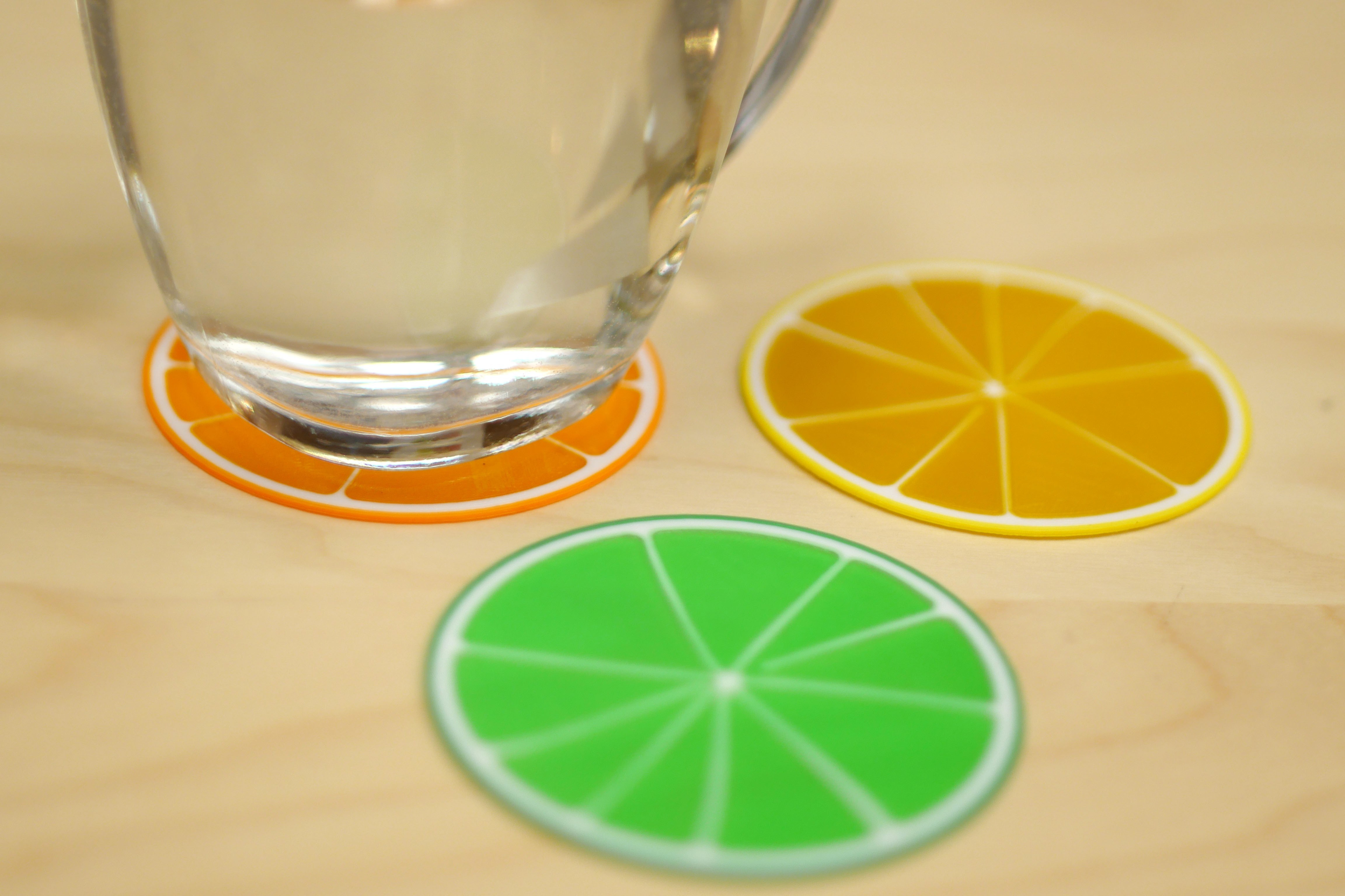 Citrus slices pic 1.jpg Download free STL file Citrus Coasters • 3D printing model, MosaicManufacturing