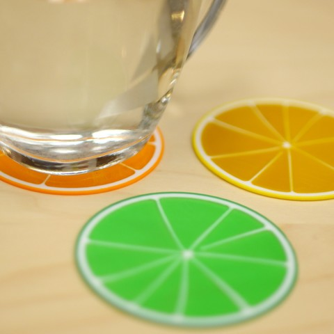 Free 3D print files Citrus Coasters, MosaicManufacturing