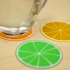 Free Citrus Coasters 3D printer file, MosaicManufacturing