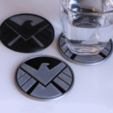 Download free STL file Multi-Color S.H.I.E.L.D. Coaster, MosaicManufacturing