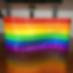 Free 3d print files Pride Flag, MosaicManufacturing