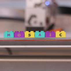 Free 3d printer files Multi-Color Lego Letter Blocks, MosaicManufacturing