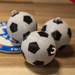Download free 3D printing models Multi-Color Soccer Ball Keychains, MosaicManufacturing