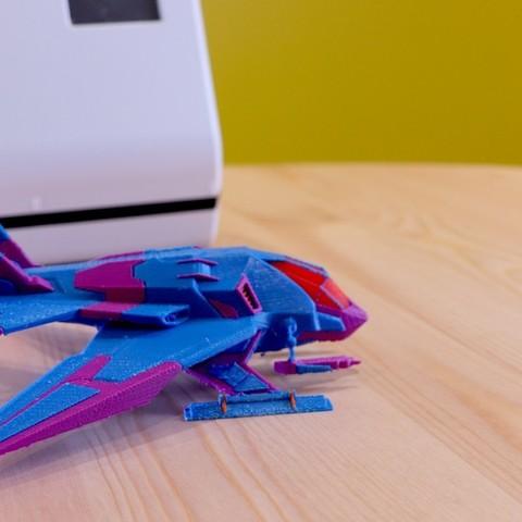 291ae3a5d2e5935aff0d86cf59d3ef1d_display_large.jpg Télécharger fichier STL gratuit Vaisseau spatial (multi-couleur) • Design à imprimer en 3D, MosaicManufacturing