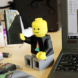 Download free 3D printer designs Multi-Color Mosaic Lego Minifig, MosaicManufacturing