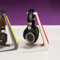 Download free STL file Color Headphone Stand • Design to 3D print, MosaicManufacturing