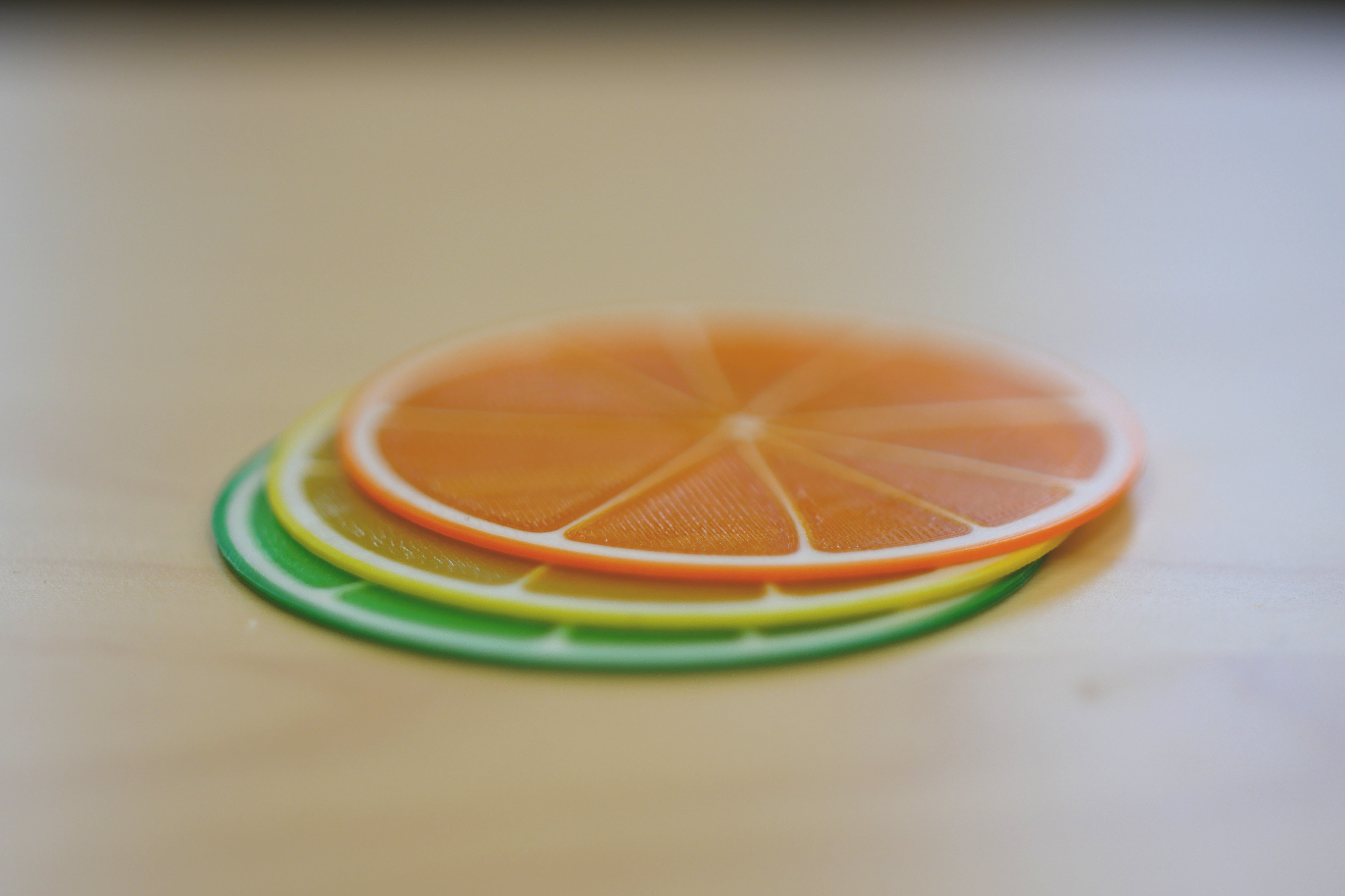 citrus slices 3.jpg Download free STL file Citrus Coasters • 3D printing model, MosaicManufacturing