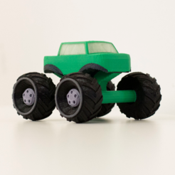 Free STL Multi-color Mini Monster Truck, MosaicManufacturing