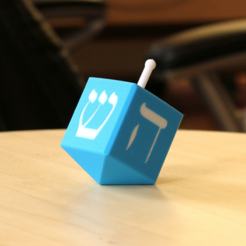 Free Multi-Color Dreidel 3D printer file, MosaicManufacturing