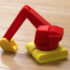 Download free 3D printing files Multi-color Excavator, MosaicManufacturing