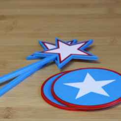 Free Fourth of July Party Pack 3D model, MosaicManufacturing