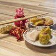 Free 3D printer files Multi-Color Year of the Pig Chopstick Holder, MosaicManufacturing