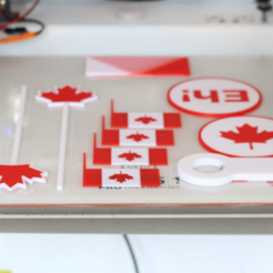 Free STL Canada Day Party Pack, MosaicManufacturing