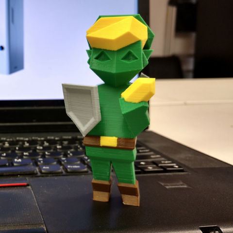 Download free 3D printing models Color Low-Poly Link, MosaicManufacturing