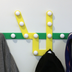 Descargar archivos STL gratis Multi-Color Subway Map Coat Rack, MosaicManufacturing
