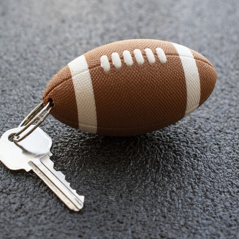 Free STL files Multi-Color Textured Football Keychain, MosaicManufacturing