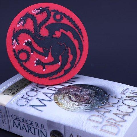 Free 3D model Multi-Color Game of Thrones Coaster - House Targaryen, MosaicManufacturing