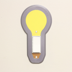 Download free STL files Multi-Color Light Bulb Switch Cover, MosaicManufacturing