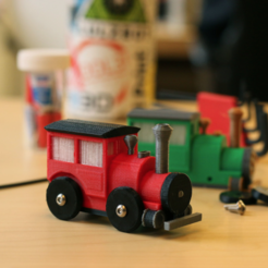 Download free STL file Multi-Color Brio Train • Design to 3D print, MosaicManufacturing