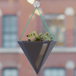 Free 3D printer files Fuze Hanging Planter, MosaicManufacturing